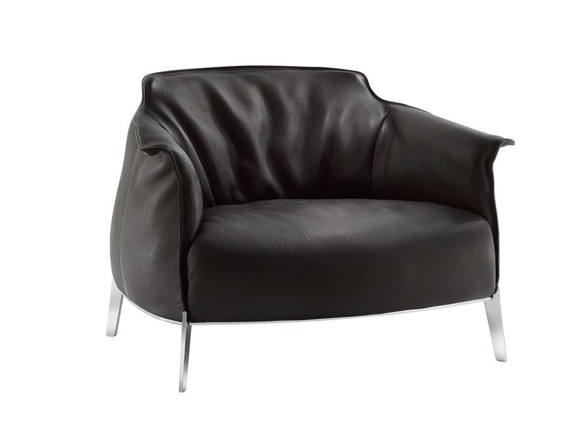 Armchair with armrests ARCHIBALD GRAN COMFORT by Poltrona Frau