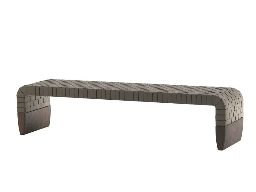 Tanned leather bench BRERA by Poltrona Frau