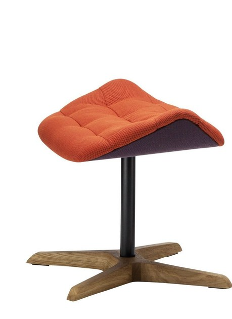 Stool 808 H   Fabric footstool by THONET