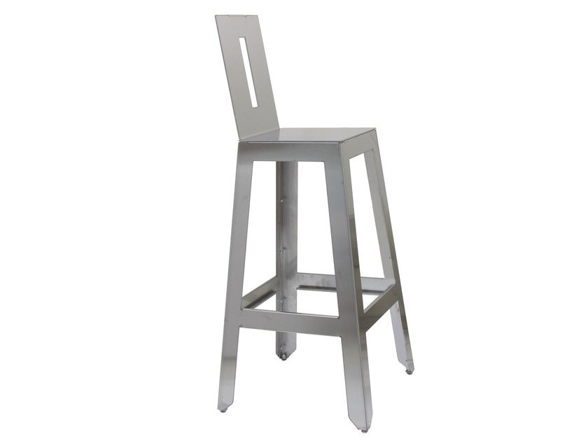 Stainless steel chair SG-MARTINO-4-X by Vela Arredamenti