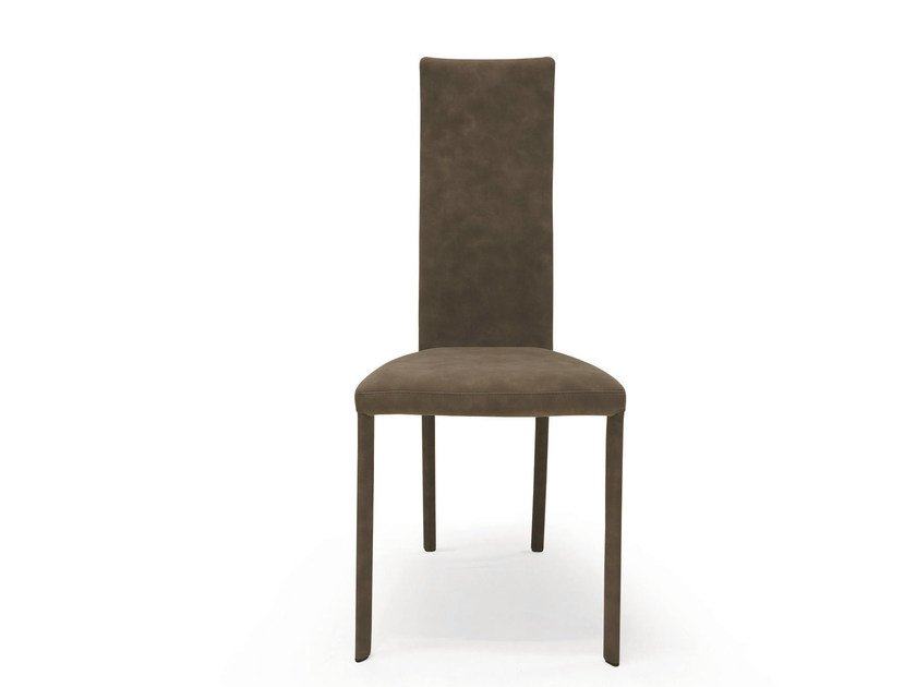 Upholstered fabric chair LUNA by RIFLESSI