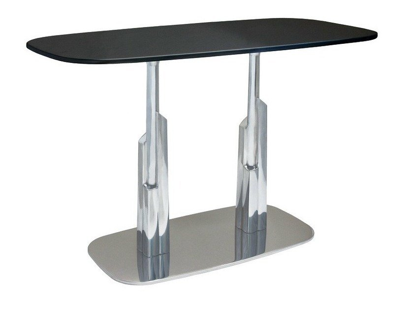 Aluminium contract table DUBAI-RONDO-84-2-XAL by Vela Arredamenti