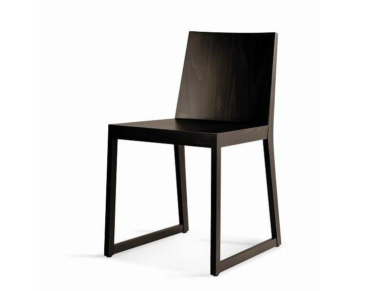 Wooden restaurant chair SD-QUENTIN by Vela Arredamenti