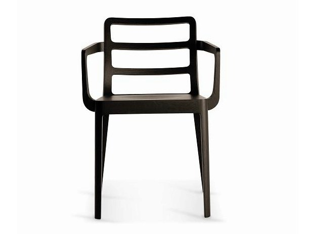 Wooden restaurant chair SD-MERIGGIO-B by Vela Arredamenti