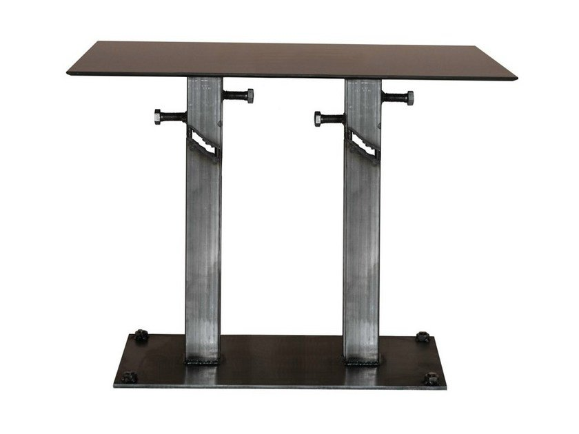 Steel contract table FRANKIE-84-2 by Vela Arredamenti