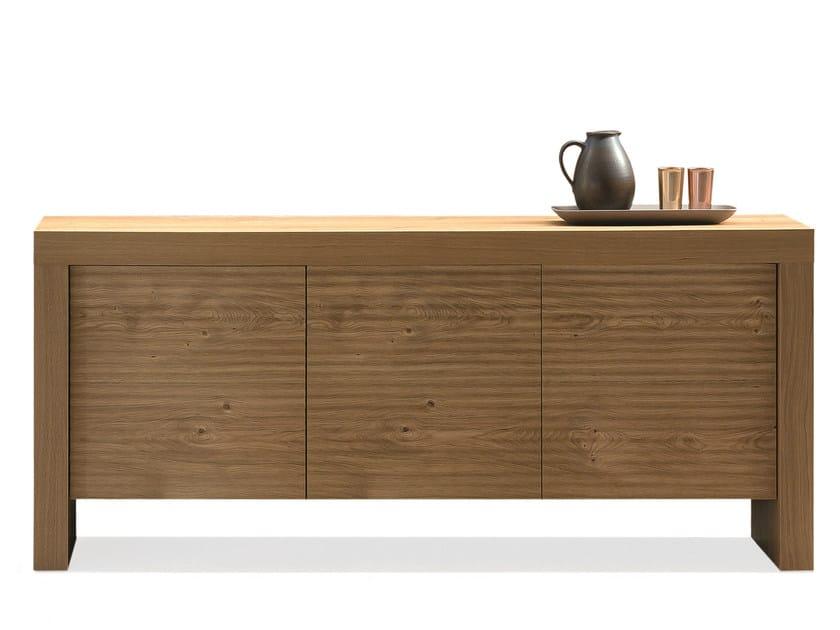 Oak sideboard with doors T-WOOD   Sideboard by RIFLESSI