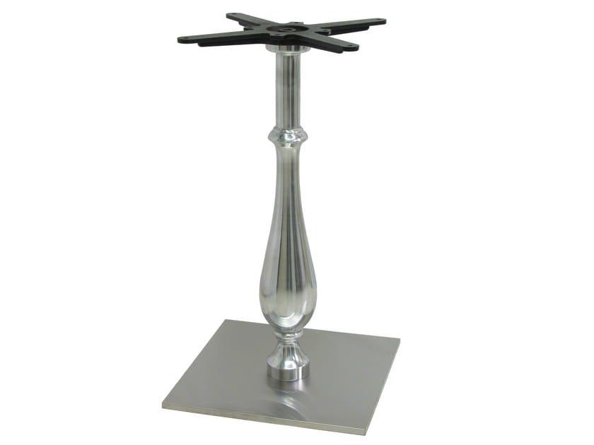 Aluminium table base SLIM-LIB by Vela Arredamenti