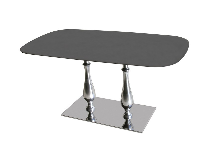 Stainless steel contract table SLIM-84-2-LIB by Vela Arredamenti