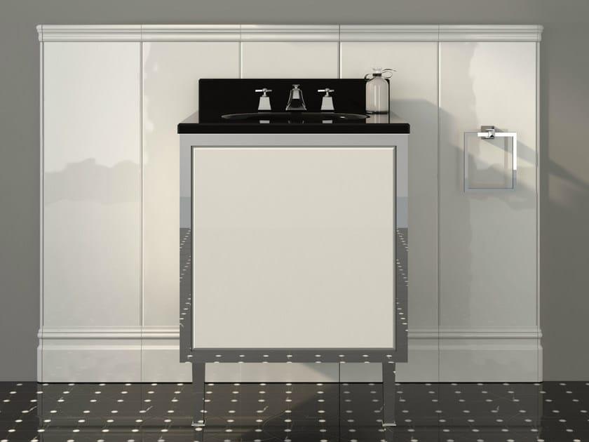 Lacquered single vanity unit with doors JAZZ   Vanity unit by Devon&Devon