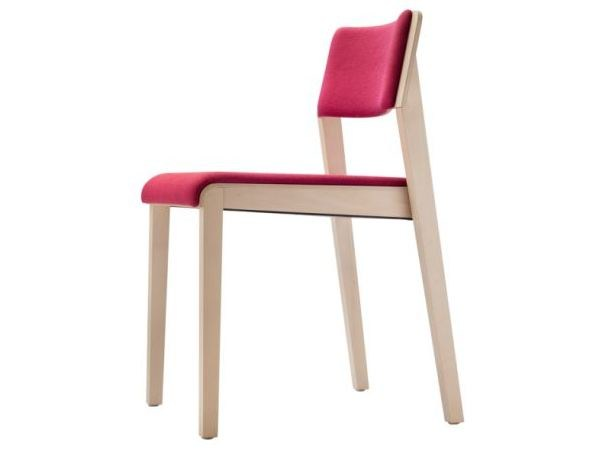 Stackable solid wood chair 330 S/PST by THONET