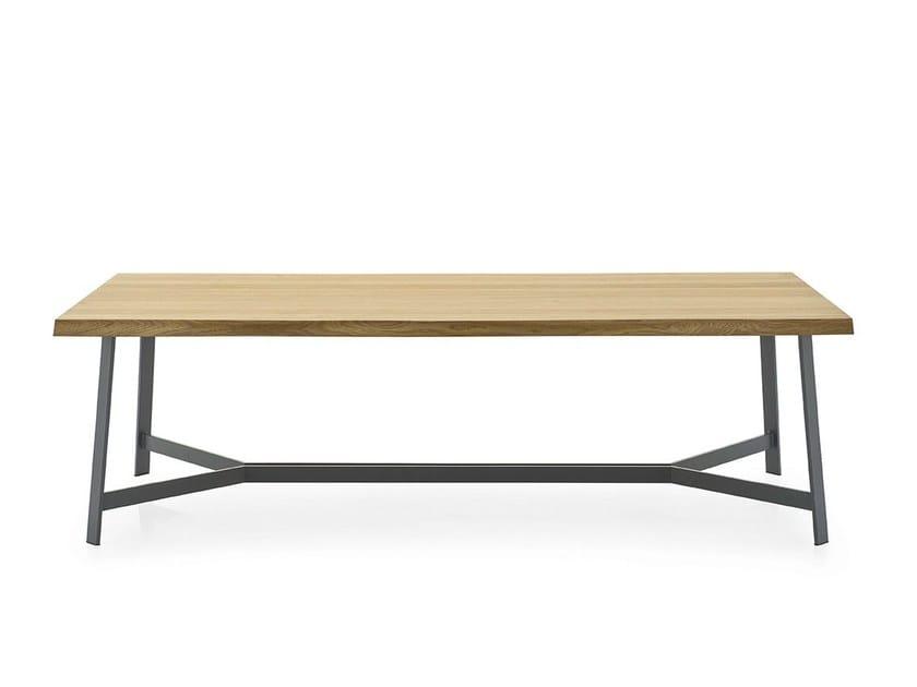 Rectangular wood veneer table STATUS by Calligaris