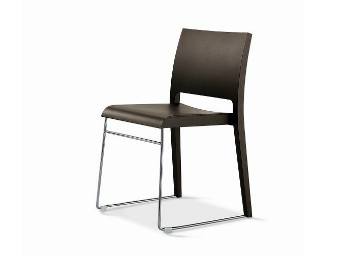 Beech restaurant chair SD-TWIN by Vela Arredamenti