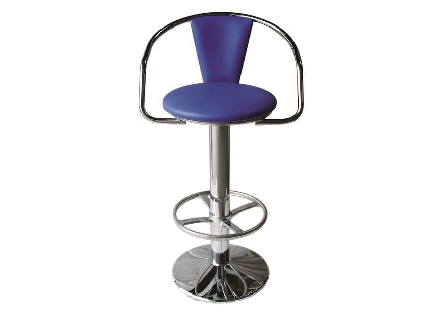 Swivel upholstered chair SG-PACHA-CR by Vela Arredamenti