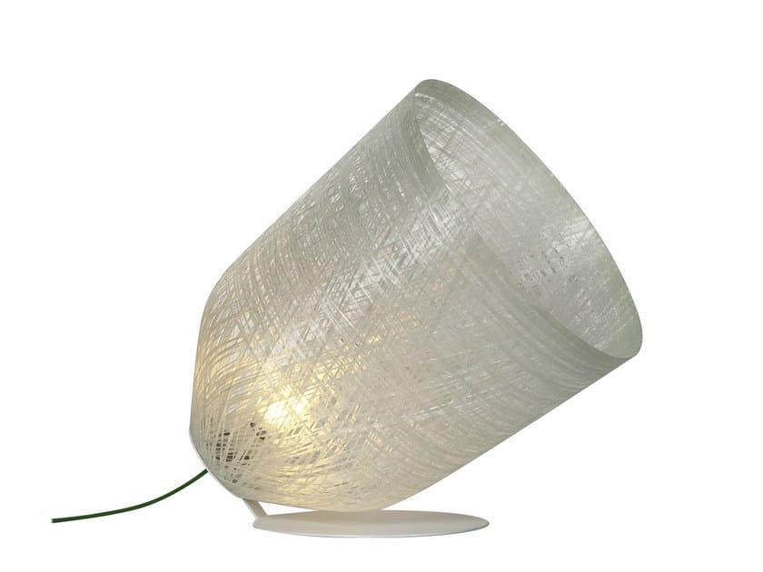 Cocoon resin Floor lamp BLACKOUT   Floor lamp by Karman