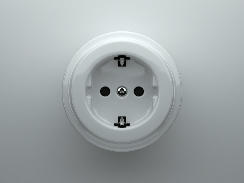 Single electrical outlet DØ   Electrical outlet by Fontini group