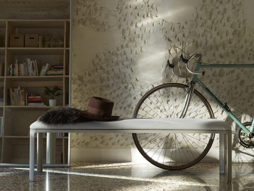 Upholstered leather bench MINNY   Panca imbottita by iCarraro