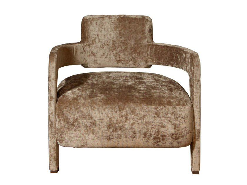 Upholstered fabric armchair with armrests JACKIE by Nube Italia