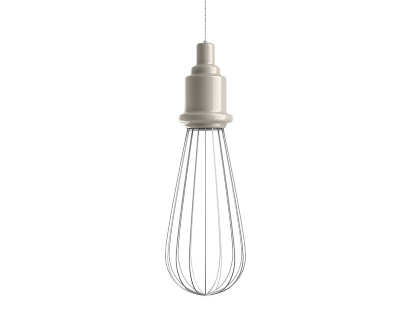 Direct-indirect light ceramic pendant lamp EDISON | Pendant lamp by MARIONI