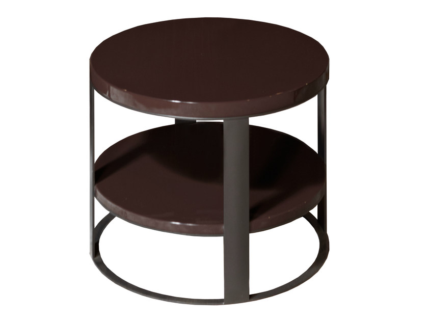 Round wooden coffee table FLOW | Round coffee table by Nube Italia