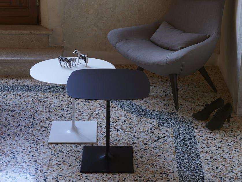Square aluminium coffee table PIN | Square coffee table by iCarraro