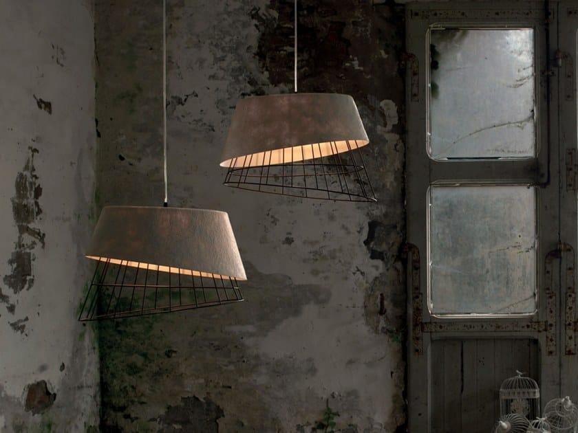 Fiberglass pendant lamp MONO by Karman