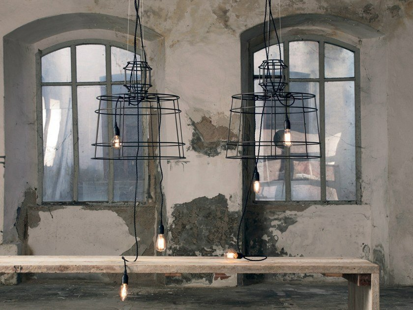 Painted metal pendant lamp SISMA | Pendant lamp by Karman