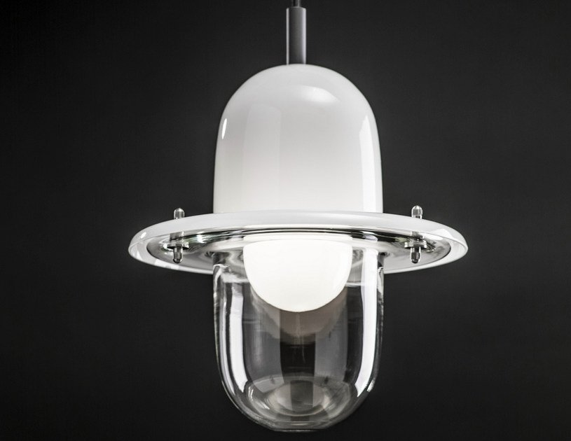 Halogen blown glass pendant lamp HATS | Halogen pendant lamp by Lasvit