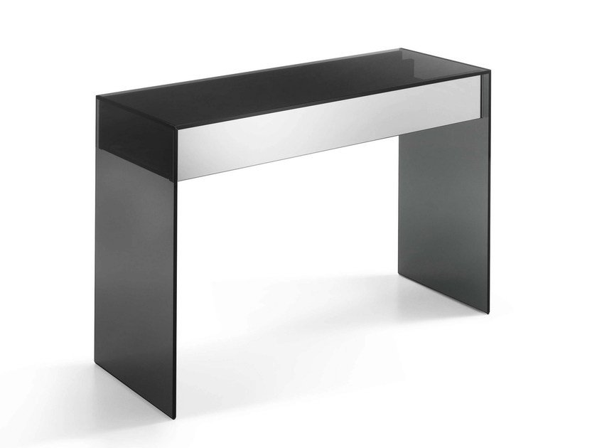 Rectangular glass console table GOTHAM | Console table by Tonelli Design