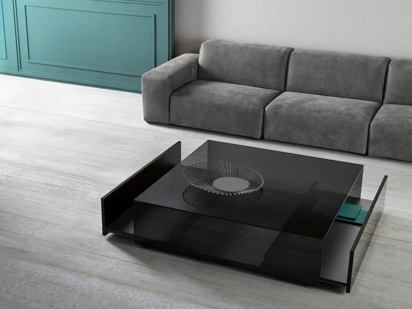 In GothamTavolino Quadrato Design Tonelli Basso Vetro drxshQBotC