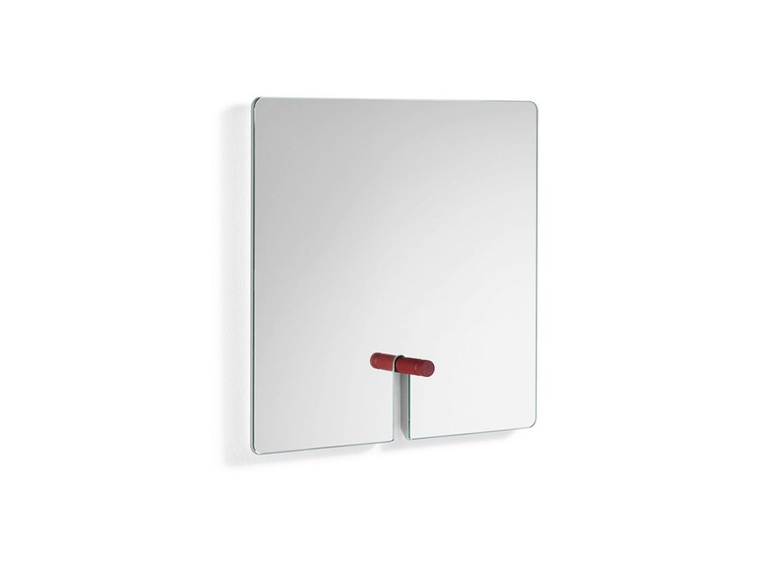 Rectangular wall-mounted mirror PARTNER by Tonelli Design