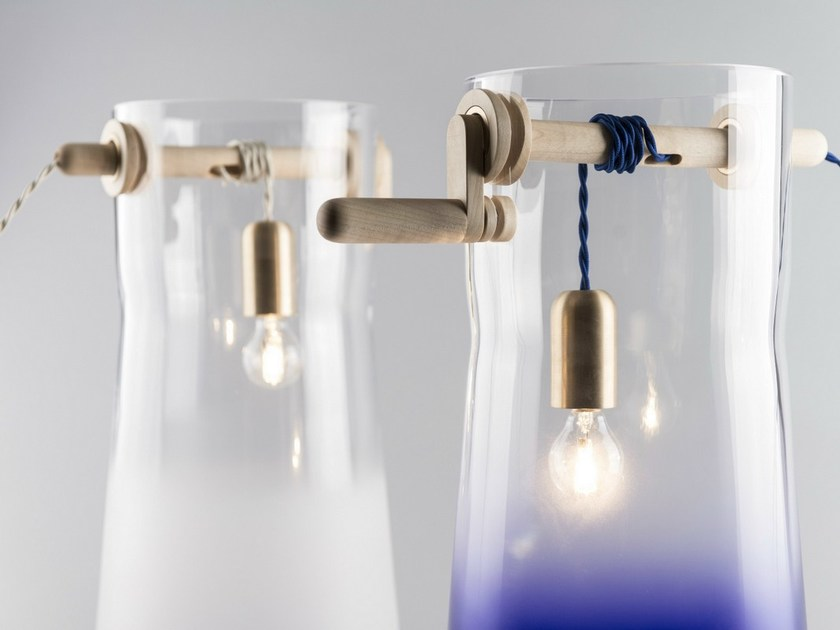 Halogen blown glass table lamp WELL by Lasvit