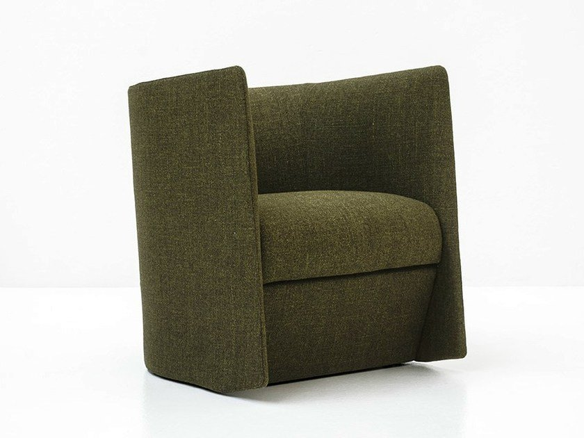 Fabric armchair with armrests PISA by Tacchini