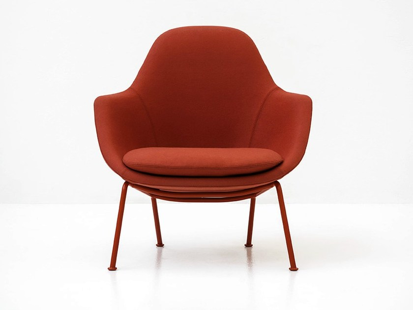 Upholstered fabric armchair with armrests DOT by Tacchini