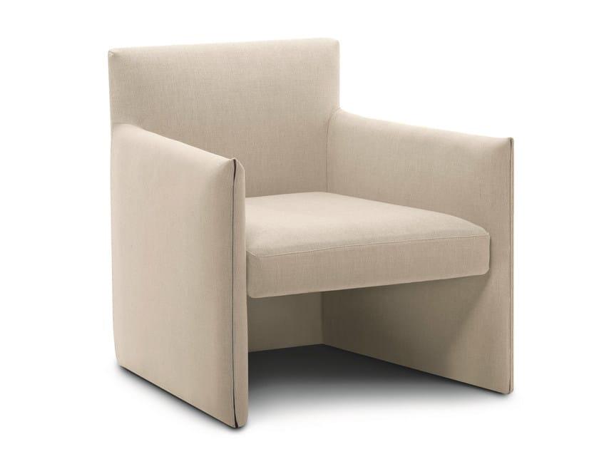 Fabric garden armchair with armrests DOUBLE | Garden armchair by RODA