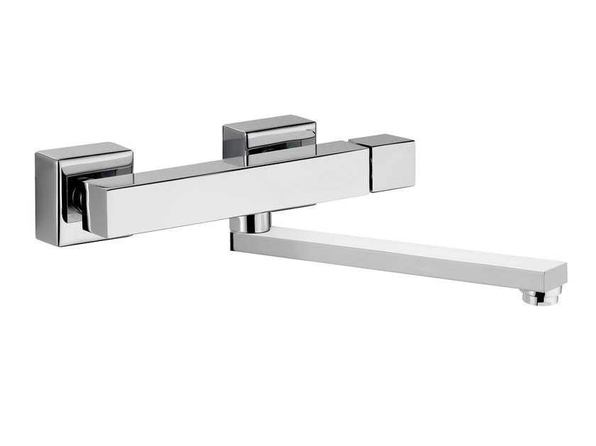 Wall-mounted kitchen mixer tap with swivel spout OXY | Wall-mounted kitchen mixer tap by Daniel Rubinetterie