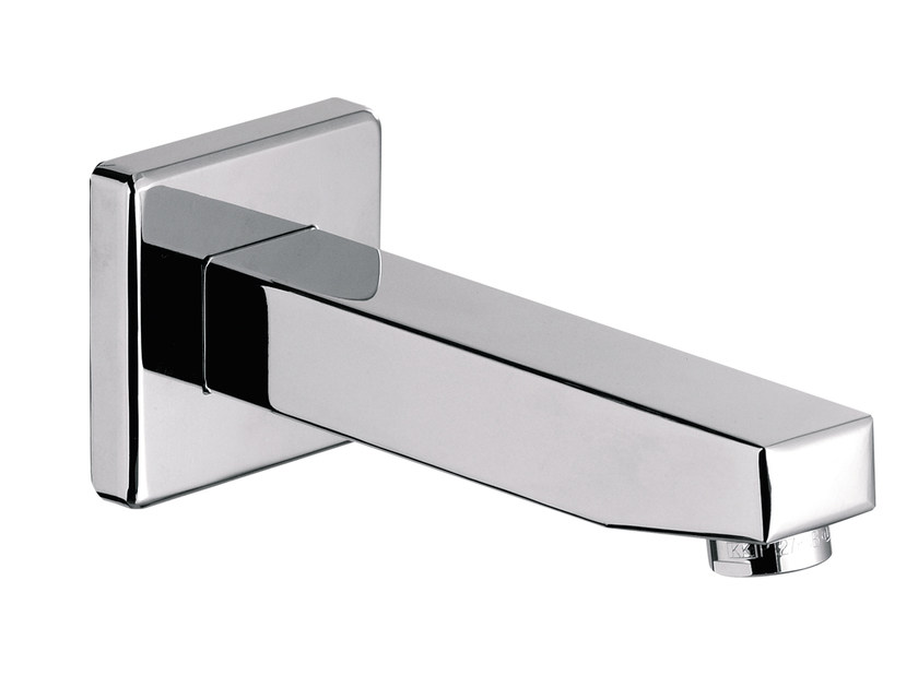Chrome-plated wall-mounted spout OXY | Spout by Daniel Rubinetterie