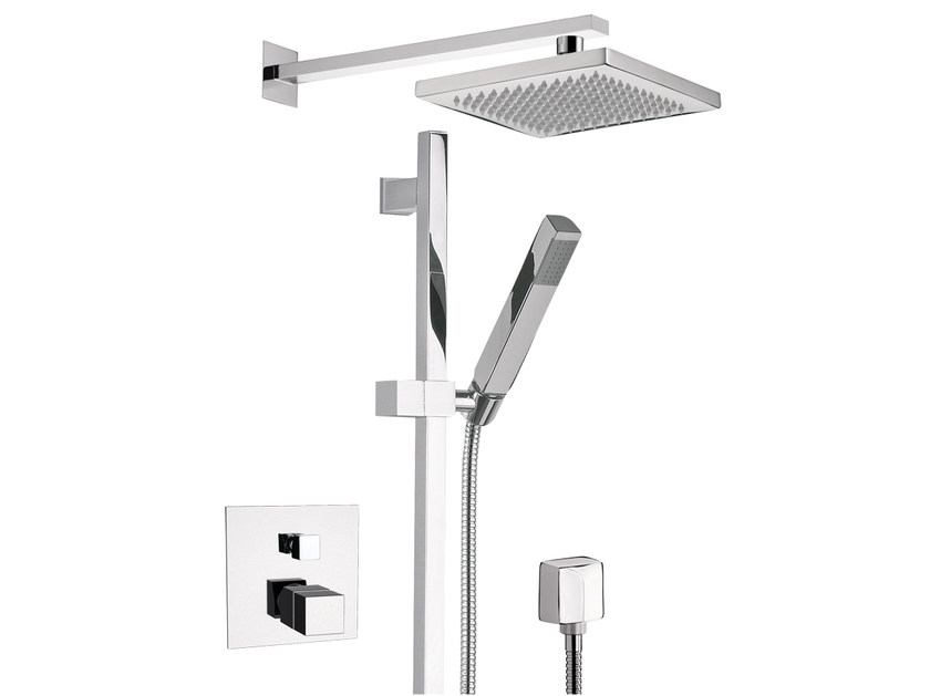 Chrome-plated shower wallbar with mixer tap OXY | Chrome-plated shower wallbar by Daniel Rubinetterie
