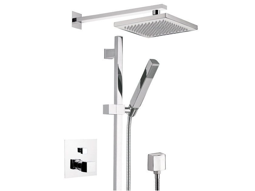 Shower mixer with overhead shower OXY   Shower mixer with overhead shower by Daniel Rubinetterie