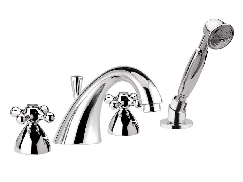 4 hole bathtub set with hand shower REVIVAL | Bathtub set by Daniel Rubinetterie