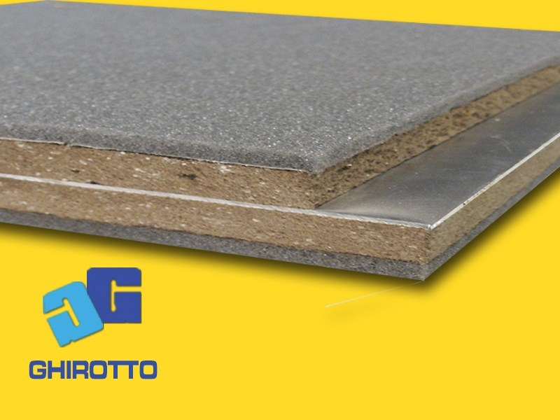 Sound insulation and sound absorbing felt with lead-laminate PIOMBOPAN SN 06 by GHIROTTO