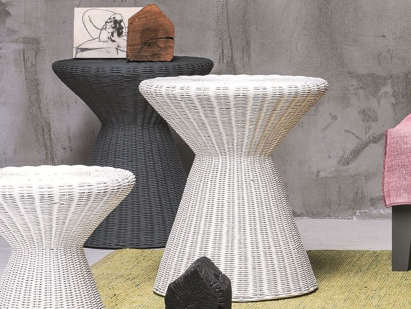 Woven wicker stool / coffee table BOLLA 13 by Gervasoni