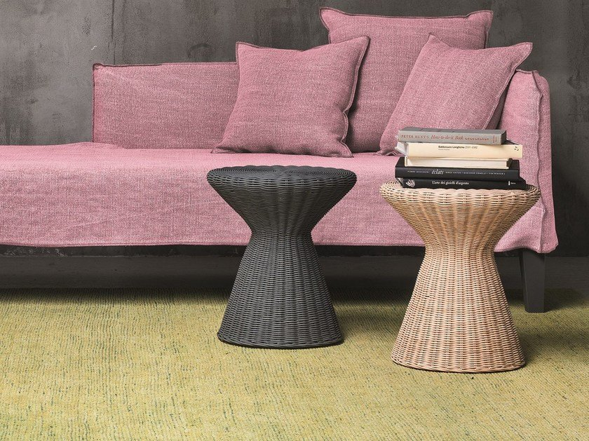 Woven wicker stool / coffee table BOLLA 12 by Gervasoni