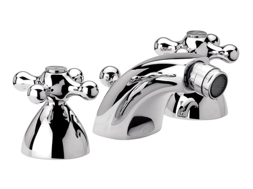 3 hole countertop chromed brass bidet tap REVIVAL | Countertop bidet tap by Daniel Rubinetterie