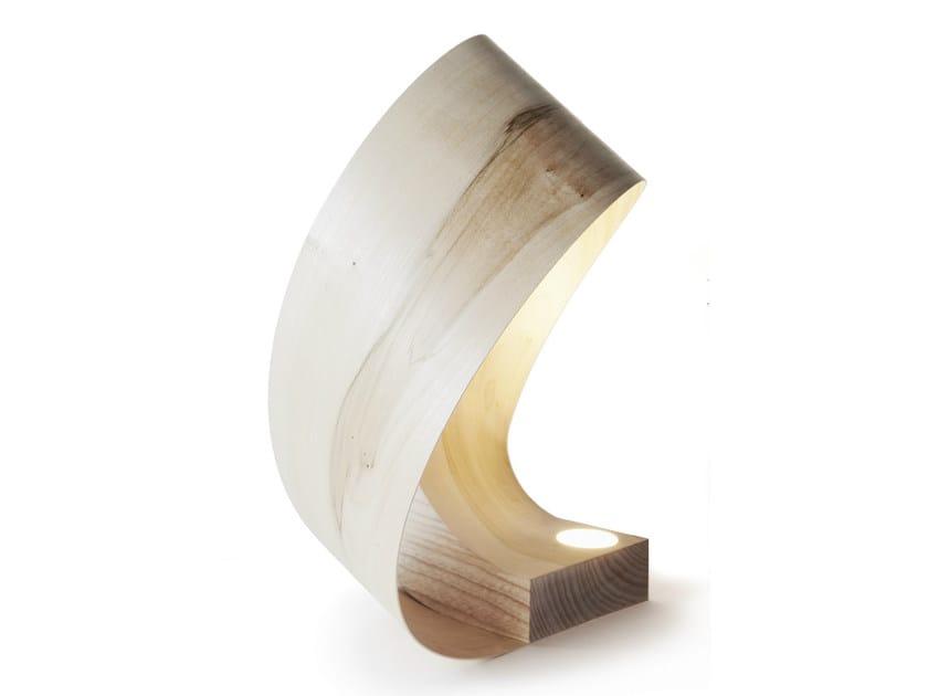 Oak table lamp MILANO STUDY by Nikari