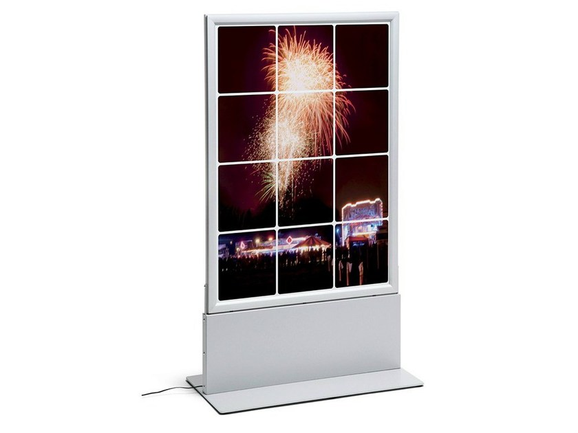 Double-sided advertising totem with built-in lights Advertising totem with built-in lights by STUDIO T