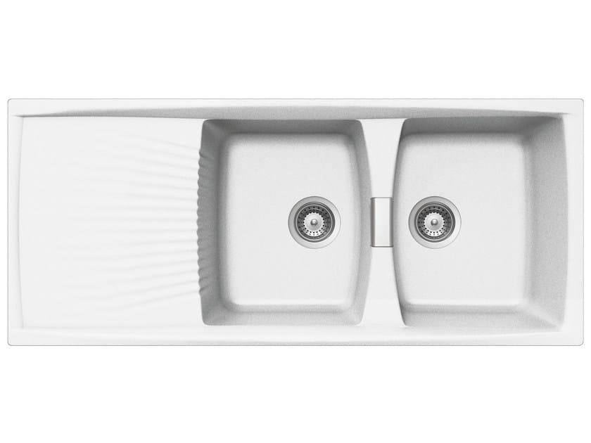 Built-In Unigranit Sink L2G16WH   Sink by Glem Gas