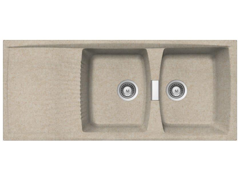 Built-In Unigranit Sink L2G16S | Sink by Glem Gas