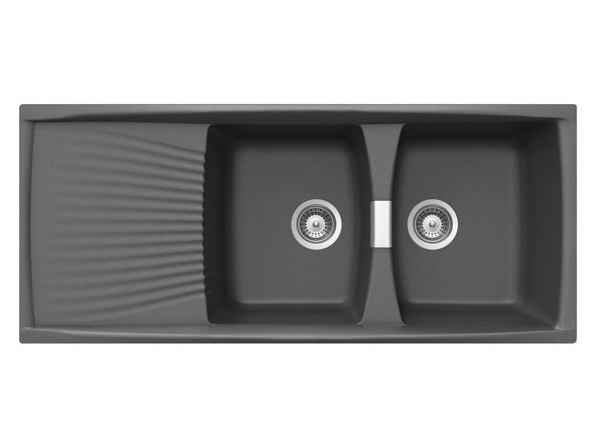 Built-In Unigranit Sink L2G16T | Sink by Glem Gas