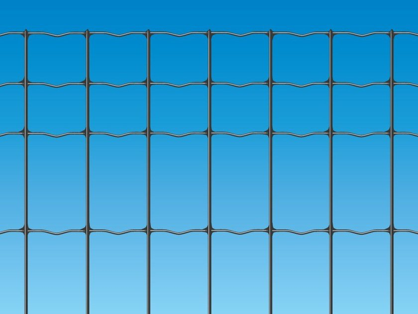 Electrically welded mesh Fence EXECUTIVE PLUS ANTRACITE by Ferro Bulloni