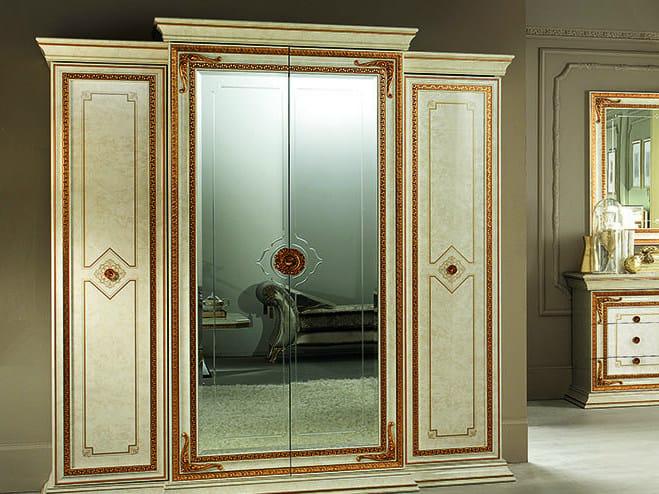 Mirrored wooden wardrobe LEONARDO | Mirrored wardrobe by Arredoclassic